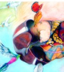 "Liver Transplant by Diane Sciarretta, 1995 Pastel on Fabriano paper, 36"" x 24"""