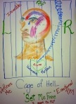 "Cage of Hell by Lois Poblitz, pastel on Fabriano paper, 12"" x 18"", 2014"
