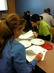 Bodyscapes Writing Activity component during  the Riley Hospital presentation, October, 2014