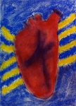 """Wolf at the Door, by Margo Rivera-Weiss, pastel on Fabriano paper, 8""""x 10"""", 2014"""