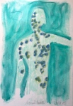Chava, Lymph Dance, 2015, pastel on Fabriano paper, 15 x 22 in.
