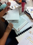 Writing Activity during a Bodyscapes art workshop at WCRC, May 9th, 2015