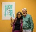 Artist, Chava, and Toby Symington, Director of The Lloyd Symington Foundation