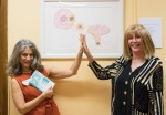 Diane Sciarretta, Founder of The Red & Orange House Foundation and Bodyscapess Artist, Linda