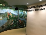 This is the mural leading to the Donald W. Reynold Pediatric Intensive Care Unit (PICU) at Arkansas Children's Hospital