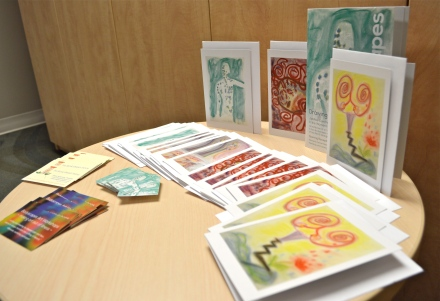 Cards on the Table:  Greeting cards using images from Bodyscapes gallery of participant art from various events.  The gallery is growing with each new Bodyscapes experience across the country.